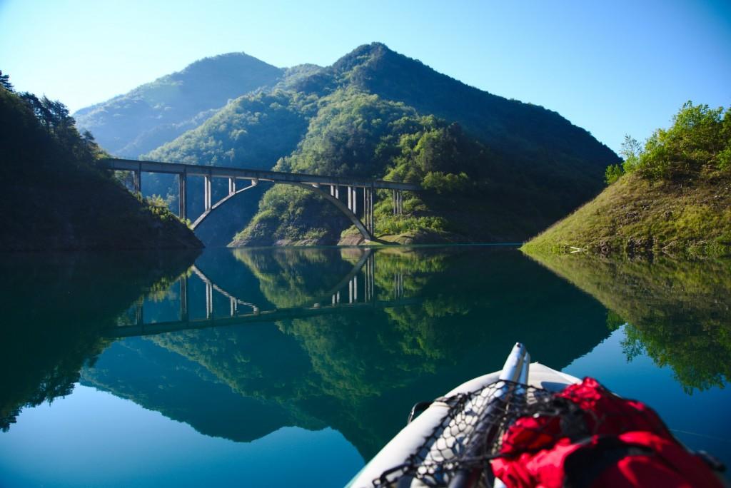 Bagno in Valvestino con la Canoa