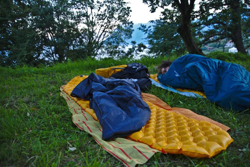 camp, bivvy at Monte Isola